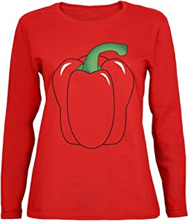 Halloween Fruit Vegetable Bell Pepper Costume Womens Long Sleeve T Shirt