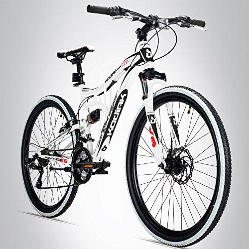 Bergsteiger Kodiak 26 Zoll Mountainbike, geeignet ab 160 cm, Scheibenbremse, Shimano 21 Gang-Schaltung, Vollfederung, Jungen-Fahrrad & Herren-Fahrrad