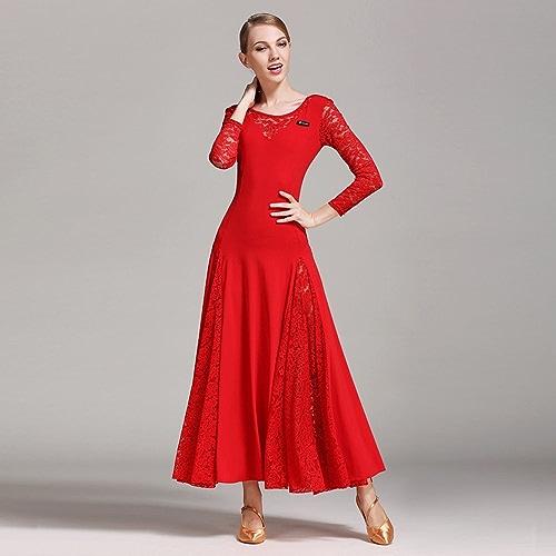 Liu Sensen Lady Modern Dance Robe Grand Pendule Jupe Nationale Normes Danse Robe De Danse Concurrence Perforhommece Robe Strass Danse Costume Tango Valse Jupe