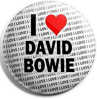Grand badge à épingle « I Love David Bowie » - 75 mm - Cadeau d'anniversaire, Noël
