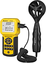 HOLDPEAK 846A Digital Anemometer for CFM with LCD Display for Wind Speed, Air Velocity, Air Flow, Temperature Measurement,Anemometer Handheld with Wind Velocity sensiors,Data Logger and Carry Case