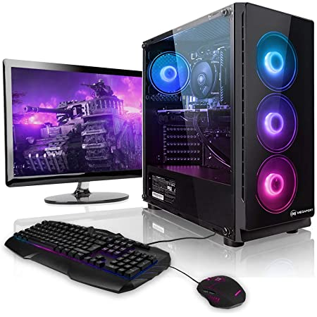 "Pack Gaming - Megaport PC Intel Core i7-10700F • 24"" Full-HD • Teclado y ratón Gaming • GeForce GTX1660 6GB • 480GB SSD • 16GB DDR4 • Windows 10 Home • 1000GB HDD"