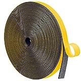 MAGZO Dichtband Selbstklebend 12mmx1.5mm, Selbstklebendes Schaumstoffband Moosgummiband für Kollision Siegel Schalldämmung Gesamtlänge 10m