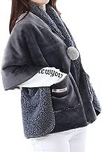 All Smiles ペアルック ルームウェア 着る毛布 肩掛け ひざ掛け ブランケット大判 ダメ着 暖かい 防寒 保温 寒さ対策 レディス 80cm×200cm メンズ ツーサイズ ふんわり 膝掛け 毛布 冷房 防寒対策