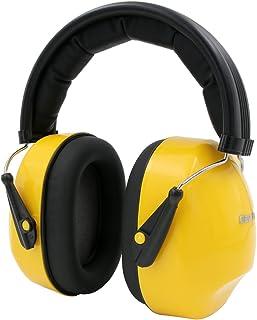防音用イヤーマフ Dee Plus(ディプラス)イヤーマフ 遮音 プロフェッショナル 騒音対策 耳あてプロテクター ヘッドバンド式イヤマフ 射撃用/サバゲー用/狩猟/作業用/勉強集中/聴覚過敏緩めなどに 大人&子供兼用 (イェロー)