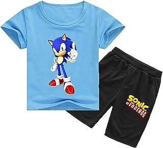 Conjunto de Camiseta y Pantalones de Sonic The Hedgehog para Niños Sonic Adventure Shadow Pantalones de Sonic para Niños Conjunto de Pijamas