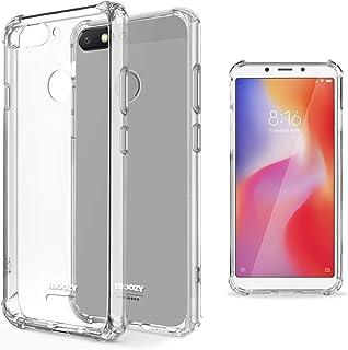 Moozy Schokbestendig Siliconen Hoes voor Xiaomi Redmi 6 - Transparante Hoes met Schokabsorberende 3D-Hoeken Heldere Besche...