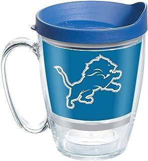 Tervis NFL Detroit Lions Legend Tumbler with Wrap and Blue Lid 16oz Mug, Clear