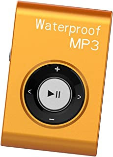 FITYLE Mp3 Music Player FM Radio Stereo Audio with Clip Lossless IPX8 Waterproof - Orange