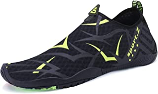 PENGCHENG Mens Womens Water Sports Shoes Quick-Dry Lightweight Barefoot Wide Feet Toe Solid Drainage Sole for Swim Diving ...