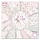First Edition It's a Girl - Bloc de 48 Hojas de Papel...