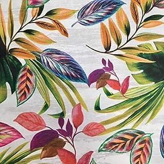 Kt KILOtela Tela por Metros de loneta Estampada Digital - Half Panamá 100% algodón - Ancho 280 cm - Largo a elección de 50 en 50 cm | Selva Tropical