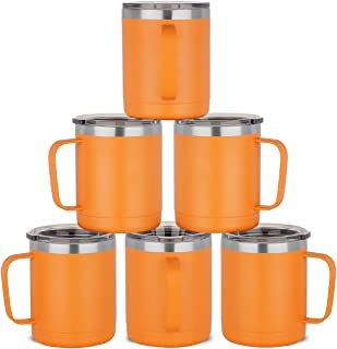 HASLE OUTFITTERS 12 oz Stainless Steel Insulated Coffee Mug with Handle, Metal Double Wall Vacuum Travel Mug, Reusable Tum...