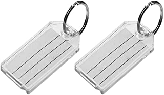 Lucky Line Extra Strength Key Tag with Split Ring; Clear, 2 Pack (20402)