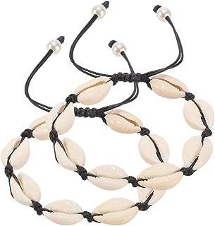 Handmade Summer Beach Shell Beaded Anklet 2 PCS Barefoot Sandals Bridal Wedding Foot Jewelry