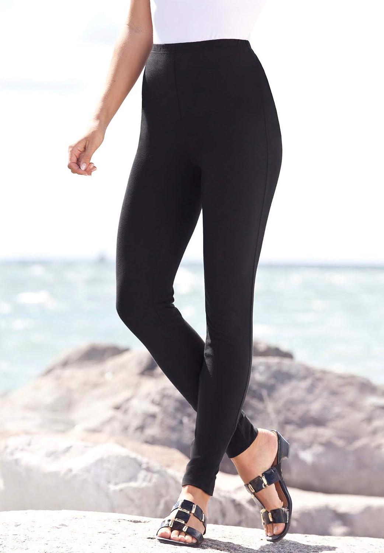 Roamans Women's Plus Size Tall Ankle-Length Essential Stretch Legging Activewear Workout Yoga Pants