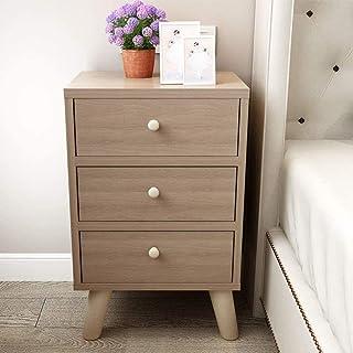 Table de chevet en bois 3 étagères à tiroirs assemblage moderne canapé table finition organisateur de table meubles de cha...