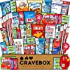 CRAVEBOX - ケアパッケージ (40個) スナックボックス - スナック、キャンディ、チップス、チョコレート、クッキー、グラノーラバーのバラエティ詰め合わせセット 学生、オフィス、ミドルシエグゼ、最終試験用