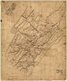INFINITE PHOTOGRAPHS Map: 1860 Rockbridge Co, Va|Landowners|Rockbridge County|Rockbridge County|Virginia