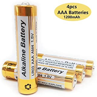 Cotchear AAA Batteries, 4pcs 1200mAh Long Lasting 1.5 Volt Performance Alkaline Batteries, All-Purpose Battery for Household and Business