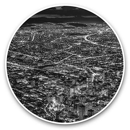 Impresionantes pegatinas de vinilo (juego de 2) 30 cm BW – Bogotá Colombia City Cityscape Fun Decals para portátiles, tabletas, equipaje, reserva de chatarras, frigoríficos, regalo fresco #42611