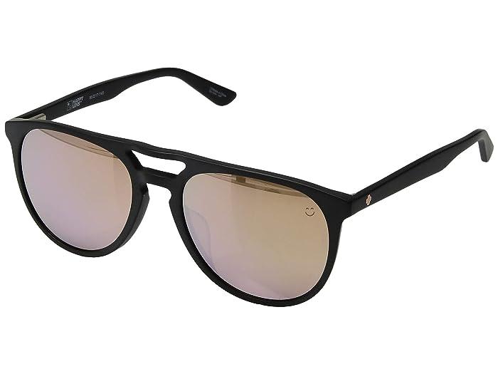 Spy Optic Syndicate (Matte Black/Happy Bronze/Rose Quartz Spectra Mirror) Athletic Performance Sport Sunglasses