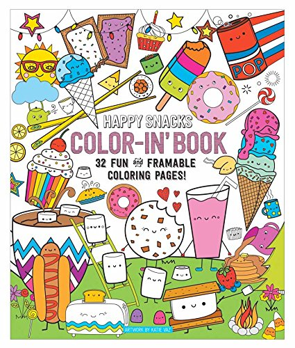 """OOLY, Coloring Book, Happy Snacks, 32 Pages, 9"""" x 12"""" (118-157)"""