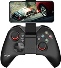 INTSUN Wireless Mobile Game Controller Dual Vibration Mobile Gaming Gamepad Bluetooth Rechargeable Game Joystick for Android iOS Phone Tablet PC TV Box