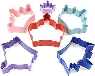 R&M International 1801 Princess Crown Cookie Cutters, Assorted Sizes, 6-Piece Set