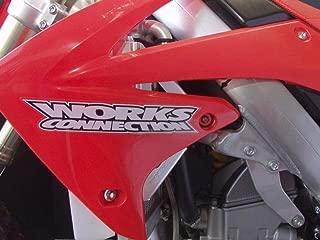 Works Connection 14-17 Honda CRF250R Radiator Braces (Silver)