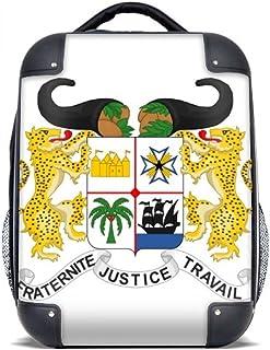 """Benín Emblema Nacional País Estuche rígido Hombro Transporte Niños Mochila Regalo 15"""""""