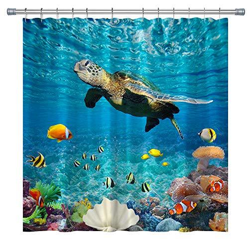 Duschvorhänge, Dekor für Badezimmer, Polyester-Stoff, Duschvorhang-Sets mit Haken, 180 x 180 cm (mehrfarbig)