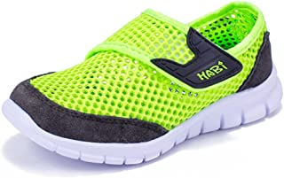 HOBIBEAR Boys Breathable Mesh Sneakers Lightweight Kids Casual Strap Running Shoes