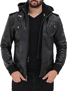 معطف سيارة من الجلد للرجال | معاطف Btman مصنوعة من الجلد الأسود والبني