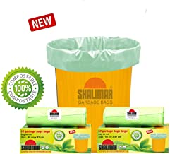 Shalimar Compostable/Biodegradable Garbage Bags (Large) Size 60 cm x 81 cm 3 Rolls (30 Bags) (Trash Bag/Dustbin Bag) (Green)