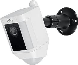 Metal Mount for Ring Spotlight Cam Battery - Adjustable Indoor/Outdoor Security Mount by Wasserstein (Black)