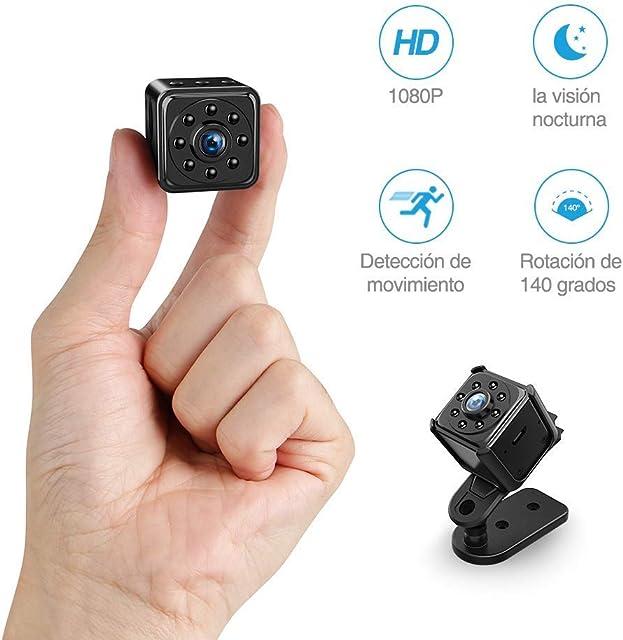 Mini Camara Espia Oculta Video Cámara FREDI 1080P HD Cámara Portátil Interior/Camaras de Seguridad Pequeña Interior/Exterior/IR Visión Nocturna