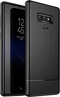 Ultra Slim Case for Samsung Galaxy Note 9, Shockproof Protective Carbon Fiber Case Full Body Soft Bumper Phone Case Cover for Samsung Galaxy Note 9 (Black)