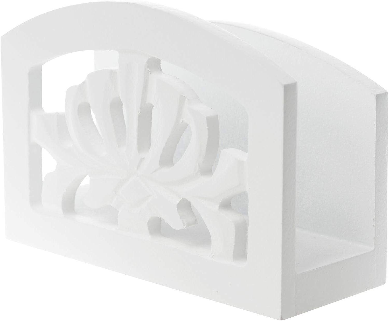elbmöbel–Servilletero Servilletas Color Blanco rústico madera antiguo Shabby barroco 1pieza