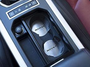 Cubierta De Acero para 2011-2018 Evoque - 2 Piezas Portatazze Emblema Discos Placas Inox Metal Cepillado Interior Decoración Personalizados Hechos a Medida Tuning