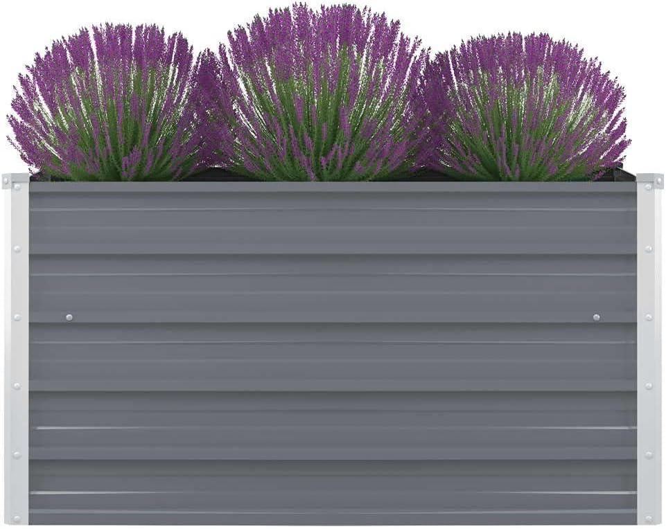 Raised Garden Bed San Diego Mall Kit for Pla Vegetables Flower Philadelphia Mall Galvanized Metal