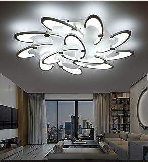 BAYCHEER Lámpara de techo LED Semi Flush Candelabro, moderna lámpara colgante de acrílico max. Bombilla de 40W incluida, para sala de baño, dormitorio, restaurante, 12 cabezas, luz blanca