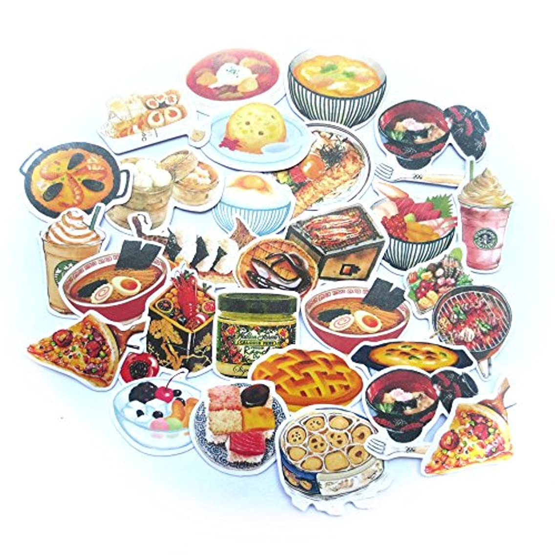 DadaCrafts(TM) 32PCS 3cm - 6cm Large Bag Packaged Stickers Sets (Food 2)