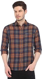 Ed Hardy Mens Slim Collar Check Casual Shirt