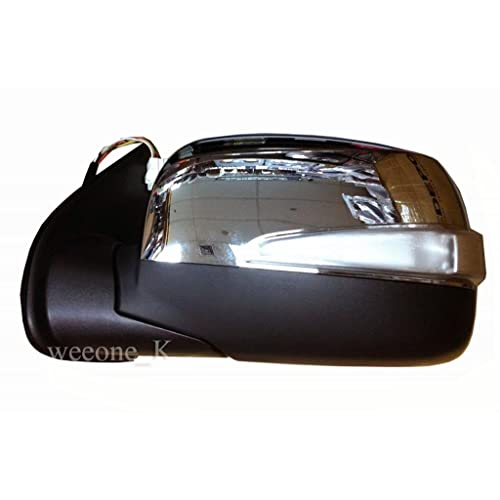Aftermarket Parts 1 Left Side Power Mirror Side Rear View with Turn Signal Light for Isuzu