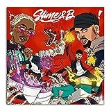 Chris Brown & Young Thug Slime & B Cover Rap Music Star pintura póster impresiones lienzo cuadro de pared para la decoración de la habitación del hogar-50x50cm sin marco