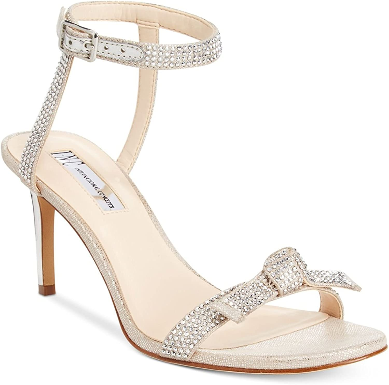 I35 Laniah Ankle Strap Evening Sandals, Nude, Nude, Nude, 5 USA  fritid