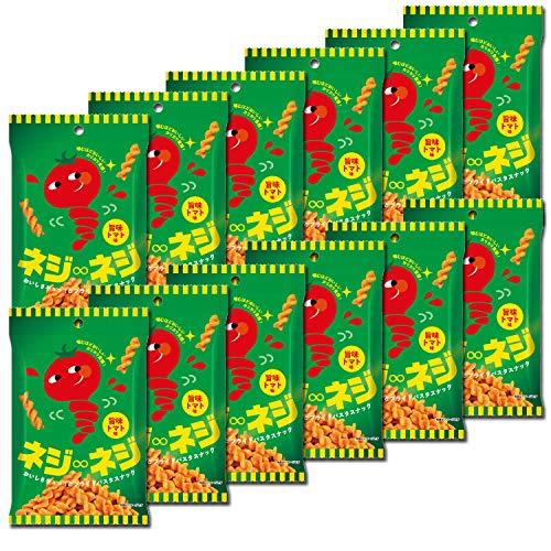 三州製菓 ネジ∞ネジ おいしさギュッ!とフライドパスタスナック デュラム・セモリナ小麦粉100% 新食感パスタスナック Pasta Snack カリカリ食感 お菓子 おつまみ (旨味トマト味 30g×12袋入り)