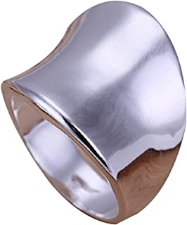 CY-Buity Korean Style 925 Sliver Plated Polish Concision for Thumb Band Ring 8 Size