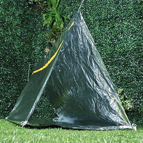 Baodanjiayou Bramble Notfall-Thermozelt, kompatibel mit Survival, Notfall, Camping, Bushcraft, Wandern Situationen, Schutz vor Regen, Kälte, Sturm, Wind und Unterkühlung